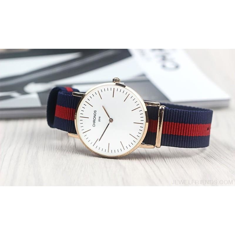 Casual Stripe Strap Watches - Custom Made | Free Shipping