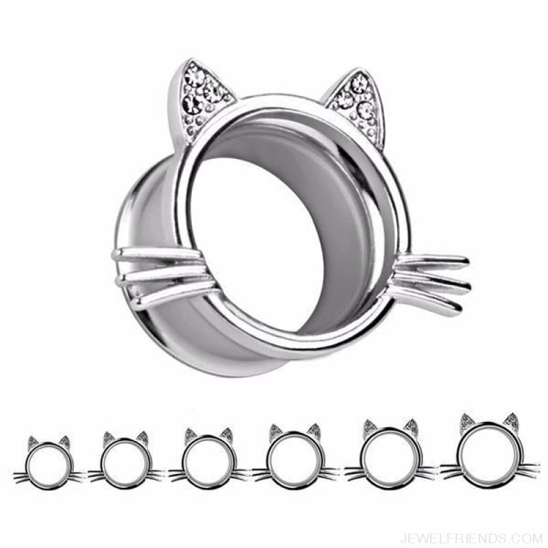 Cat Style Ear Piercing Tunnel - Custom Made | Free Shipping