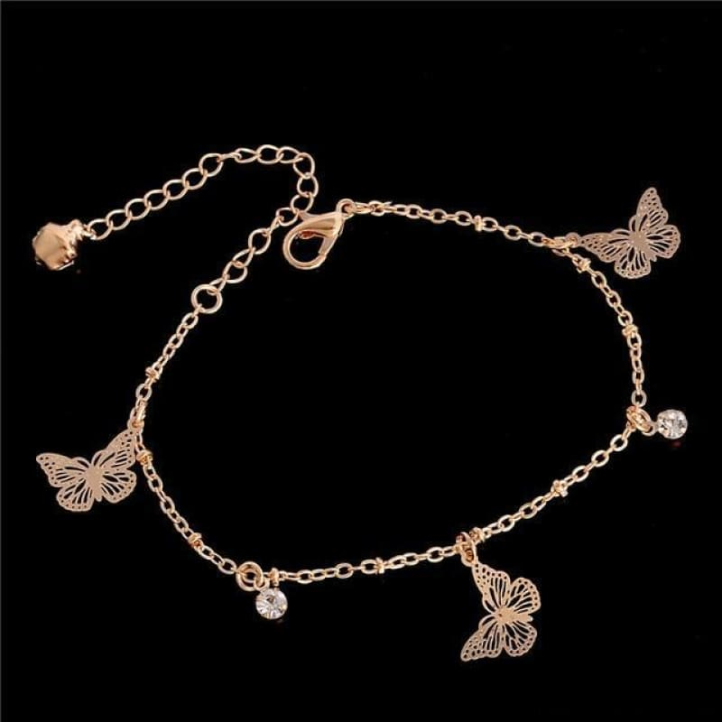 Chain Butterfly Flower Heart Owl Anklets - 10 - Custom Made | Free Shipping