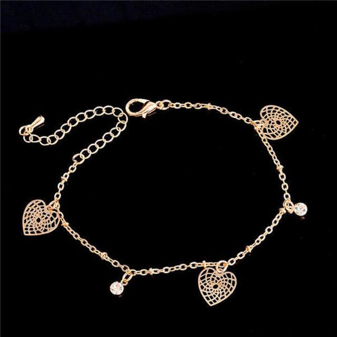 Chain Butterfly Flower Heart Owl Anklets - 2 - Custom Made | Free Shipping