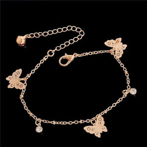 Chain Butterfly Flower Heart Owl Anklets