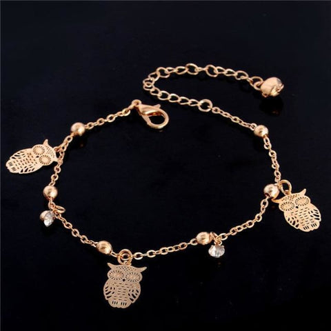Chain Butterfly Flower Heart Owl Anklets - 9 - Custom Made | Free Shipping