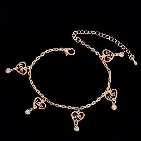 Chain Butterfly Flower Heart Owl Anklets - Custom Made | Free Shipping