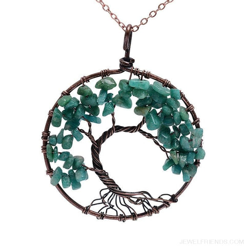 Image of Chakra Tree Of Life Pendant Necklace - Custom Made | Free Shipping