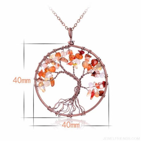Image of Chakra Tree Of Life Pendant Necklace - Red Agate - Custom Made | Free Shipping