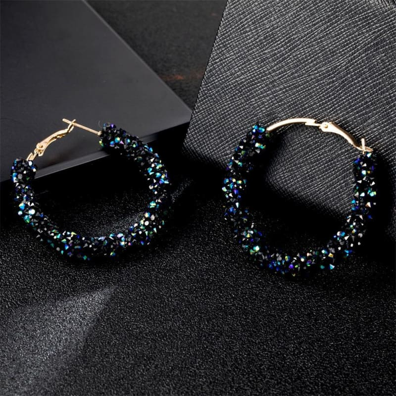 Charm Austrian Crystal Hoop Earrings - Custom Made | Free Shipping