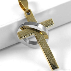 Christian Bible Prayer Cross Pendant Necklace - Custom Made | Free Shipping