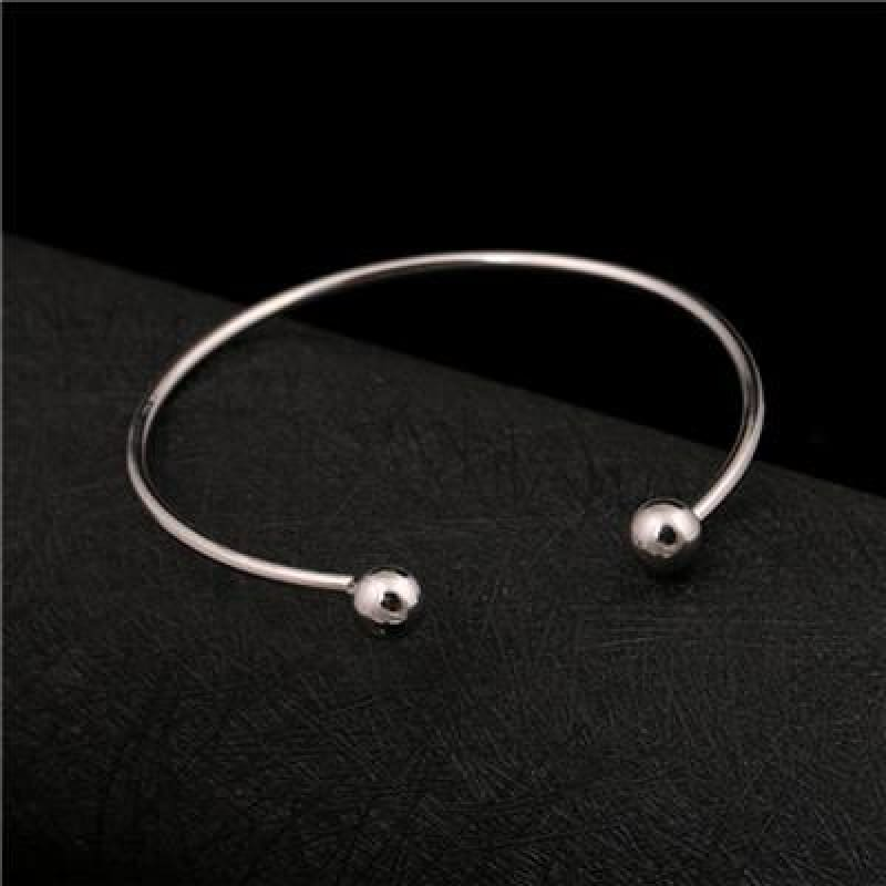 Classic Ball Cuff Bracelet - Silver - Custom Made | Free Shipping