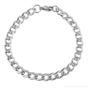 Classic Chain & Different Stykes Chain Bracelets - A 20Cmx7Mm - Custom Made | Free Shipping