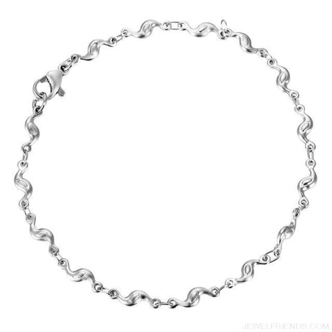 Image of Classic Chain & Different Stykes Chain Bracelets - J 20Cmx3.8Mm - Custom Made | Free Shipping