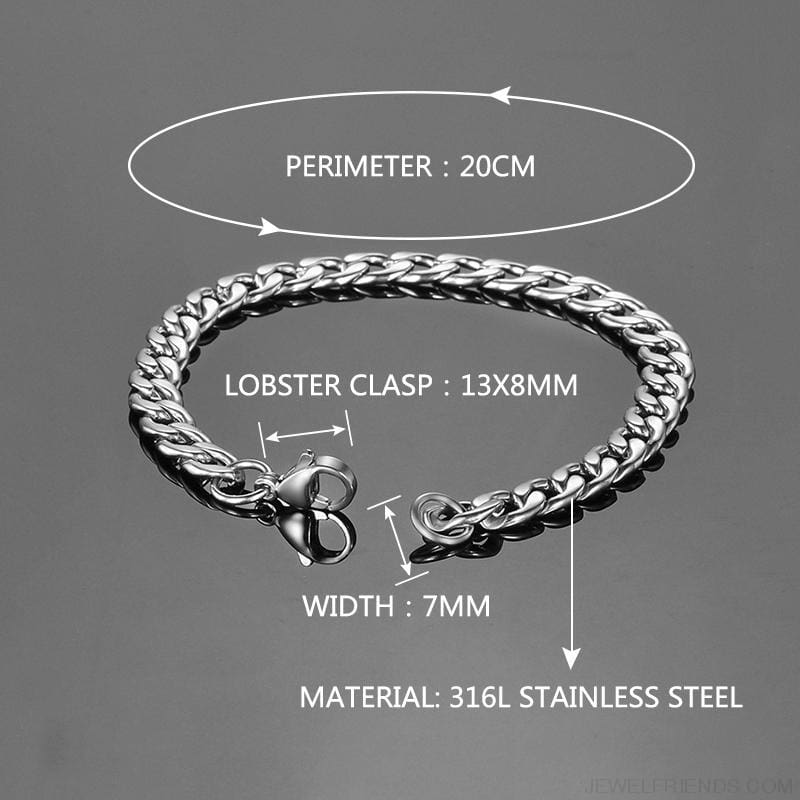 Classic Chain & Different Stykes Chain Bracelets - Custom Made | Free Shipping