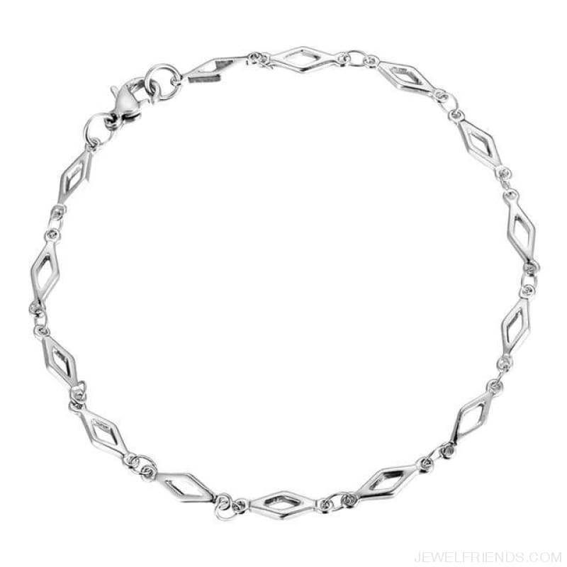 Classic Chain & Different Stykes Chain Bracelets - K 21Cmx3.8Mm - Custom Made | Free Shipping