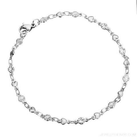 Image of Classic Chain & Different Stykes Chain Bracelets - R 20Cmx3.8Mm - Custom Made | Free Shipping