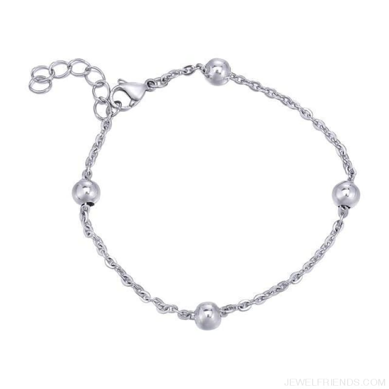 Classic Chain & Different Stykes Chain Bracelets - S 21Cm X6Mm - Custom Made | Free Shipping