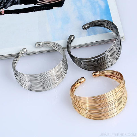 Image of Classic Opening Alloy Wide Cuff Bracelet - Custom Made | Free Shipping
