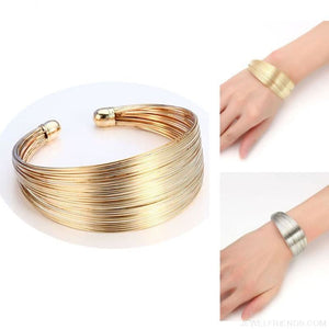 Classic Opening Alloy Wide Cuff Bracelet - Custom Made | Free Shipping