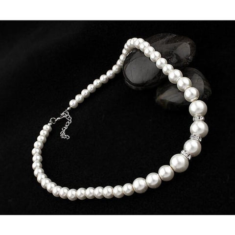 Classic Pearl With Crystal Rings Jewelry Set - Custom Made | Free Shipping