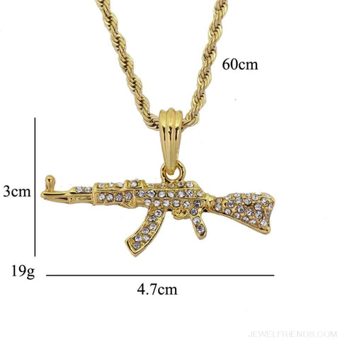 Image of Cool Ak47 Gun Pendant Necklace - Custom Made | Free Shipping