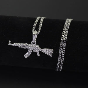 Cool AK47 Gun Pendant Necklace