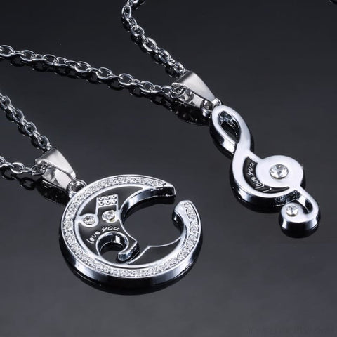 Image of Couple & Friends Musical Note Set Necklaces - Custom Made | Free Shipping