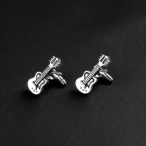 Image of Creative Guitar Bass Instruments Cufflinks - Custom Made | Free Shipping
