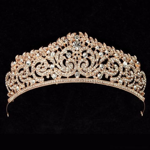 Image of Crown Queen Bridal Tiaras - Styleb Gold - Custom Made | Free Shipping