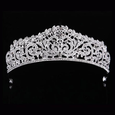Image of Crown Queen Bridal Tiaras - Styleb Silver - Custom Made | Free Shipping