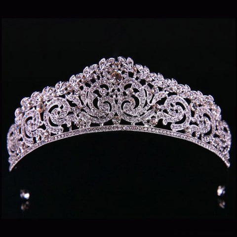 Image of Crown Queen Bridal Tiaras - Styleb White - Custom Made | Free Shipping