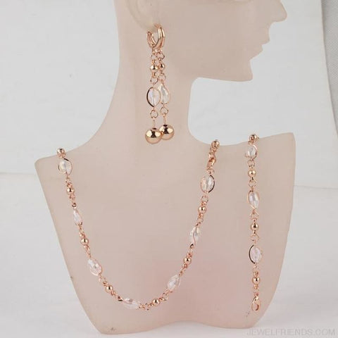 Crystal African Beads Jewelry Sets Gold Color - 3 - Custom Made | Free Shipping