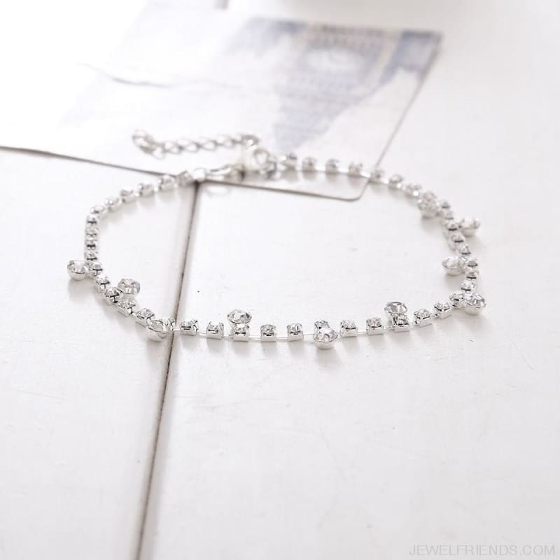 Crystal Anklet Foot Chain - Custom Made | Free Shipping