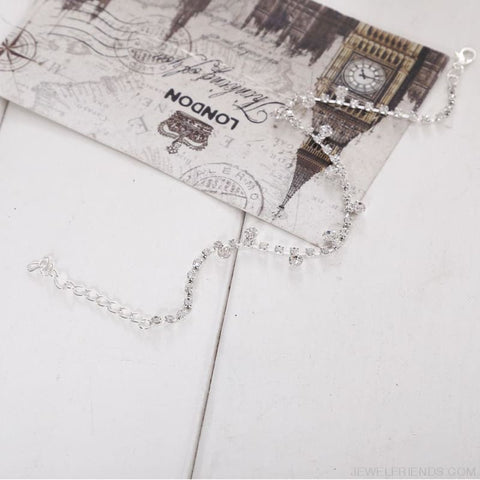 Image of Crystal Anklet Foot Chain - Custom Made | Free Shipping