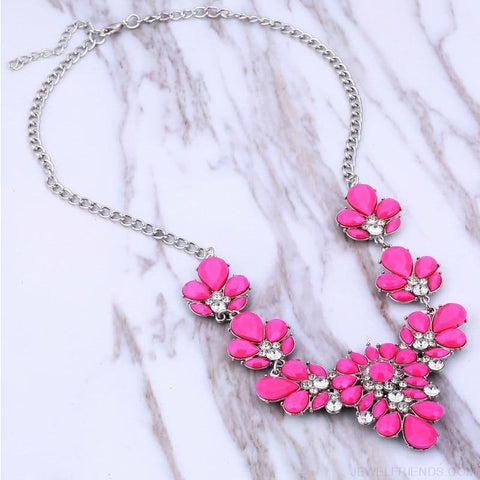 Image of Crystal Statement Flower Necklace - Custom Made | Free Shipping