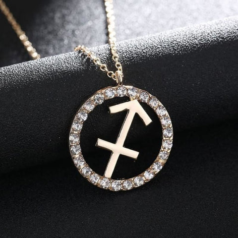 Image of Crystal Zodiac Sign Necklace - Custom Made | Free Shipping