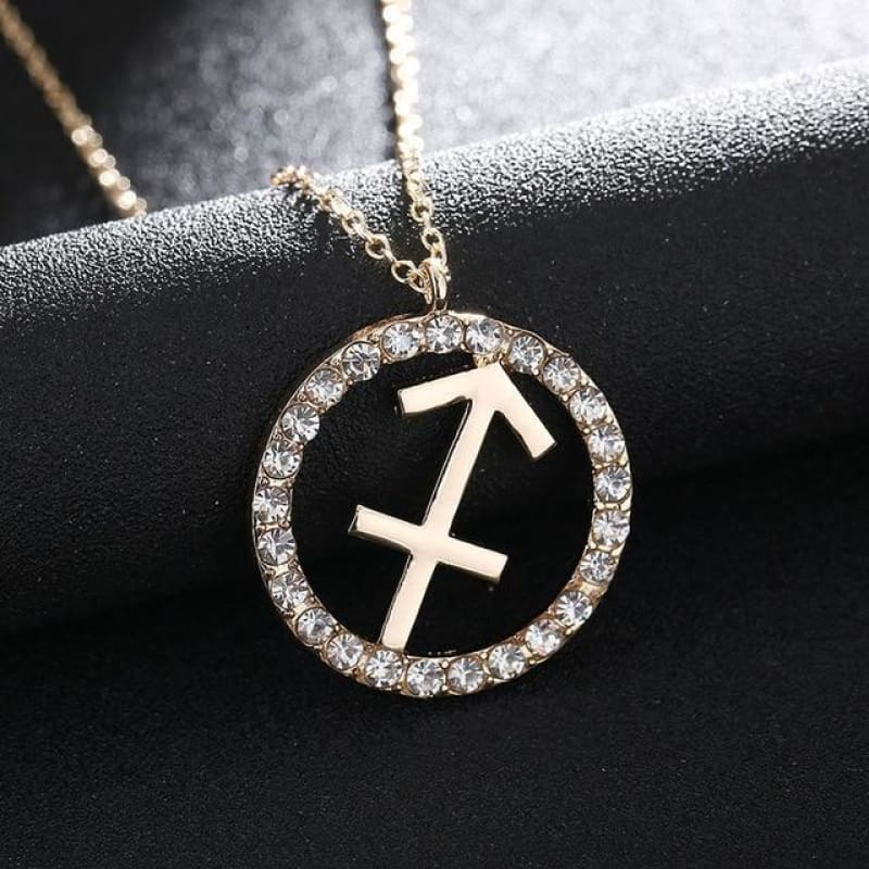 Crystal Zodiac Sign Necklace - Sagittarius - Custom Made | Free Shipping