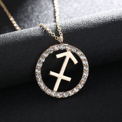 Image of Crystal Zodiac Sign Necklace - Sagittarius - Custom Made | Free Shipping