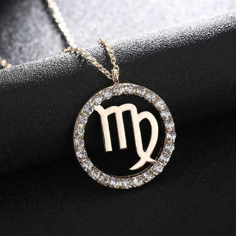 Crystal Zodiac Sign Necklace - Virgo - Custom Made | Free Shipping