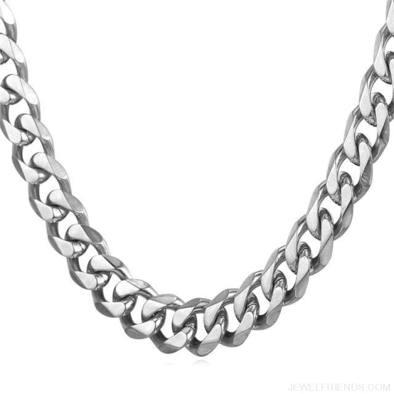 Cuban Link Chain Gold/black/steel Stainless Steel Necklace - Stainless Steel / 12Mm Width / 71Cm 28Inches - Custom Made | Free Shipping