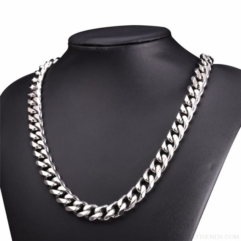 Cuban Link Chain Gold/black/steel Stainless Steel Necklace - Custom Made | Free Shipping