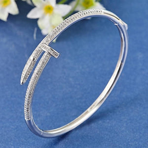 Cubic zircon Nail Bracelet & Ring Set