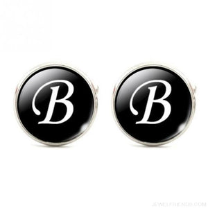 Cuff links Alphabet Single Letter