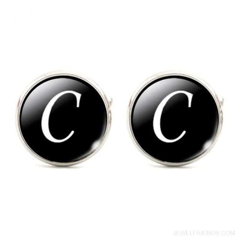 Cuff Links Alphabet Single Letter - C - Custom Made | Free Shipping
