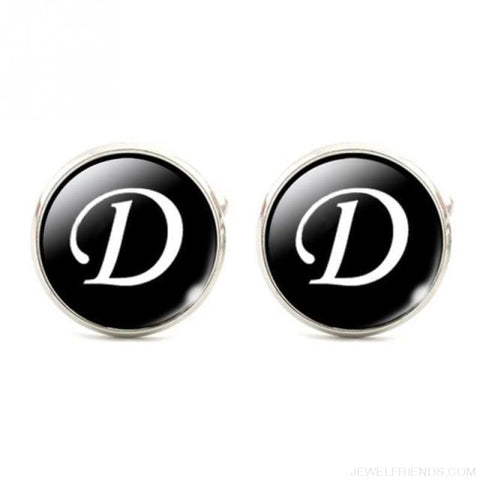 Cuff Links Alphabet Single Letter - D - Custom Made | Free Shipping