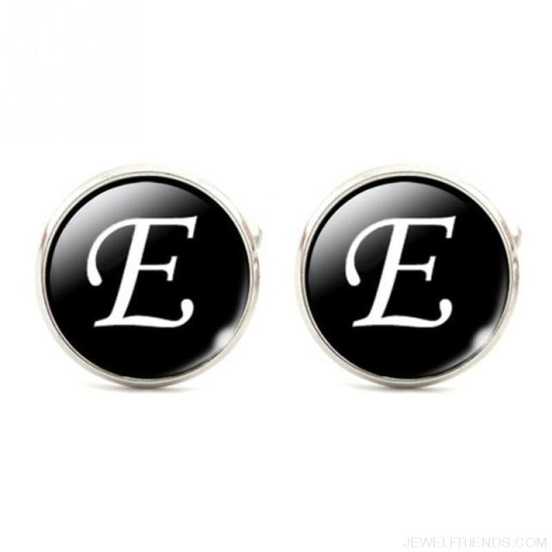 Cuff Links Alphabet Single Letter - E - Custom Made | Free Shipping