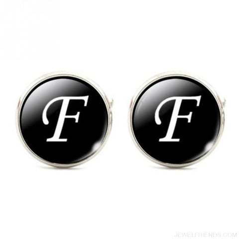 Cuff Links Alphabet Single Letter - F - Custom Made | Free Shipping