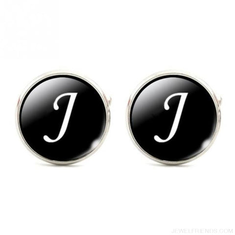 Cuff Links Alphabet Single Letter - J - Custom Made | Free Shipping