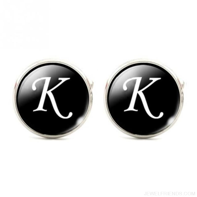 Cuff Links Alphabet Single Letter - K - Custom Made | Free Shipping