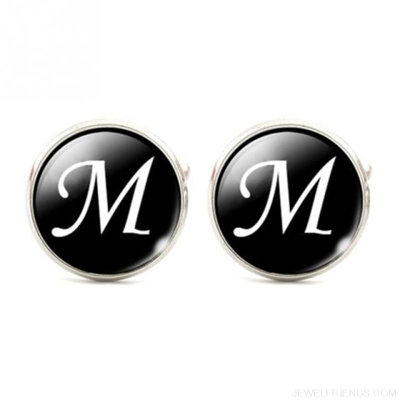 Cuff Links Alphabet Single Letter - M - Custom Made | Free Shipping