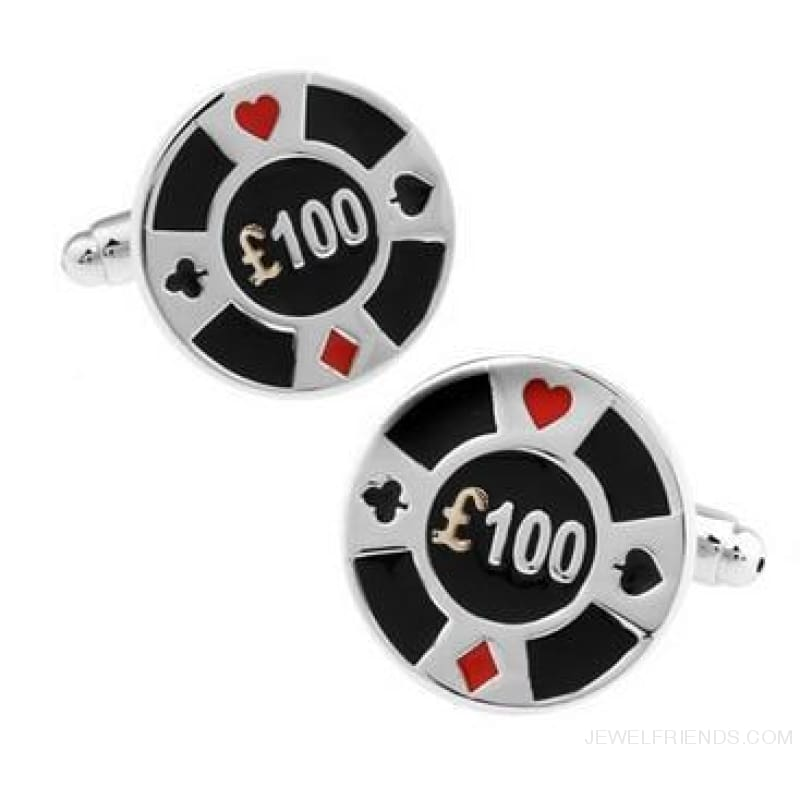 Cuff Links Gamble Casino - 13 - Custom Made | Free Shipping