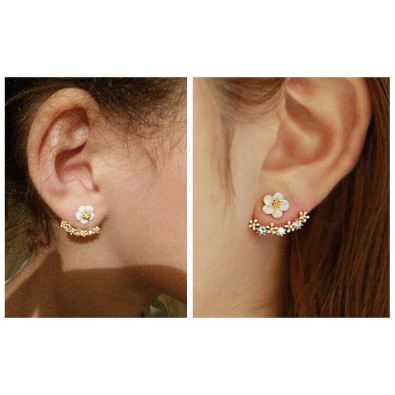 Cute Cherry Blossoms Flower Stud Earrings - Custom Made | Free Shipping
