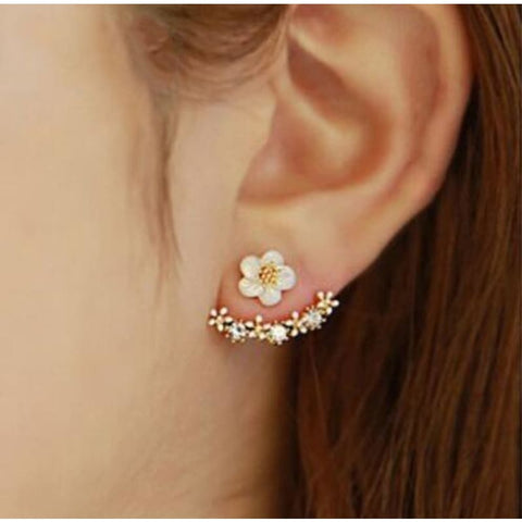 Image of Cute Cherry Blossoms Flower Stud Earrings - Custom Made | Free Shipping